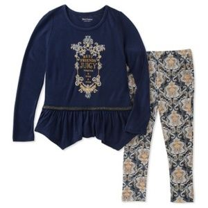 Juicy Couture set leggings and tunic Size 7 & 8/10